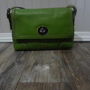 Green Coach Shoulder Bag